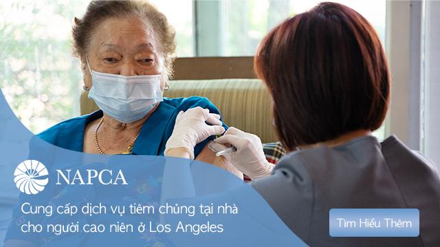 NAPCA hợp tác với Los Angeles County chích ngừa tại nhà cho người cao niên